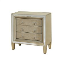 Mirrored Chest with Linen Covered Drawers