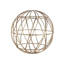 Gold Leaf 9 Inch Geometric Sphere.
