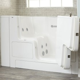 Premium Series 32x52-inch Walk-In Tub with Whirlpool System and Outswing Door  American Standard - White