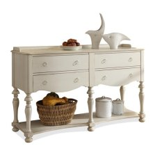 Placid Cove Server Honeysuckle White finish