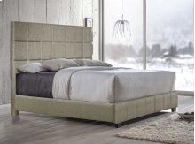 "Brooklyn King Bed, Sand 82""x4""x58"""