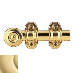 Non-Lacquered Brass Ornamental Heavy Duty Surface Bolt