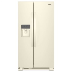 33-inch Wide Side-by-Side Refrigerator - 21 cu. ft. - BISCUIT