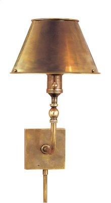 Visual Comfort S2650HAB-HAB Studio Swivel Head 10 inch 60 watt Hand-Rubbed Antique Brass Task Wall Light