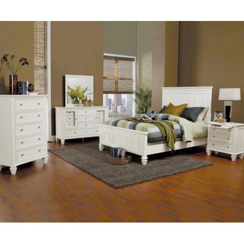 Sandy Beach White Eastern King Bed