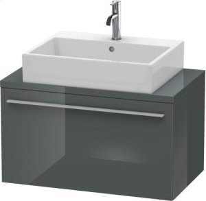 X-large Vanity Unit For Console Compact, Dolomiti Grey High Gloss Lacquer