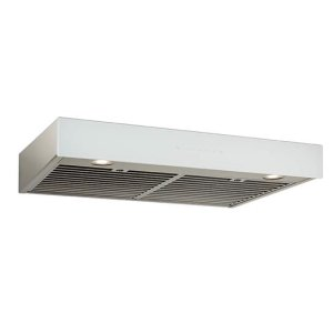 BestIspira 30-in. 500 CFM Stainless Steel Under-Cabinet Range Hood with PURLED Light System and White Glass, ENERGY STAR certified