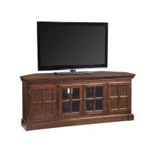"Bella Maison 60"" Chocolate Cherry Corner TV Console with Lever Handles #81586"
