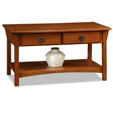 Mission Two Drawer Coffee Table 10055-RS
