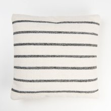 Alba Striped Pillow - Grey