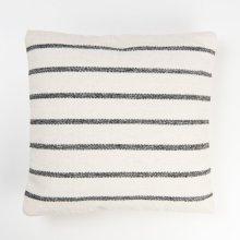 Alba Striped Pillow - Grey