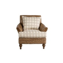 Occassional Chair, Available in Antique Palm Finish Only.