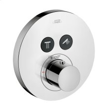 Chrome ShowerSelect Round Thermostatic 2-Function Trim