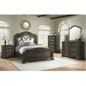 1049 Avignon Queen Bed with Dresser and Mirror