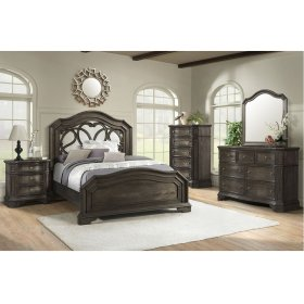 1049 Avignon King Bed with Dresser and Mirror