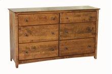 Alder Shaker 6 Drawer Double Dresser