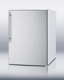 Counter Height All-freezer With Lock, Stainless Steel Door and Thin Handle