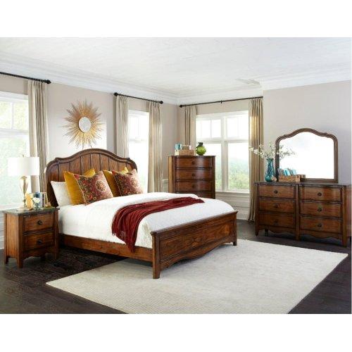 Luciano King Panel Bed with 6 Drawer Storage