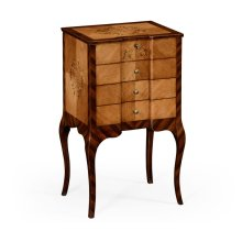 Light Satinwood Collectors Cabinet
