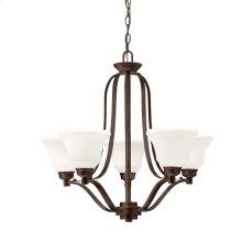 Langford 5 Light Chandelier with LED Bulbs Olde Bronze®