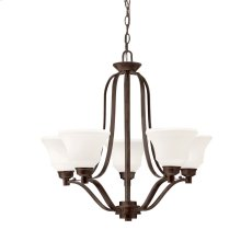 Langford 5 Light Chandelier with LED Bulbs Olde Bronze®