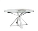 Allister Round Dining Table - Stainless Steel Product Image
