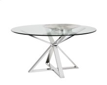 Allister Round Dining Table - Stainless Steel