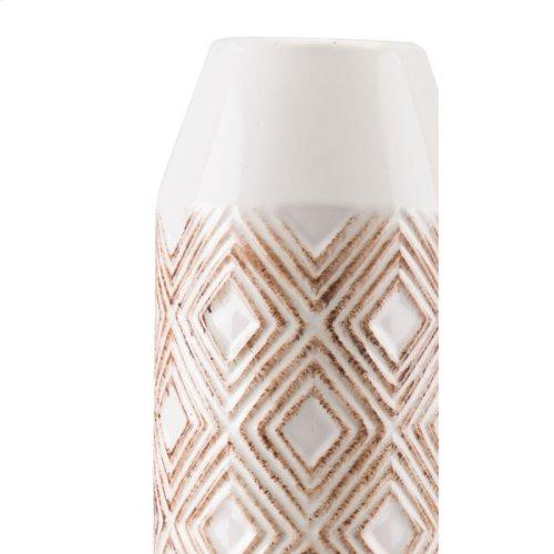Toba Bottle Lg White & Brown