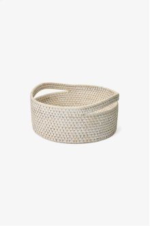 Palm Small Round Storage Basket with Handles STYLE: PLBA08