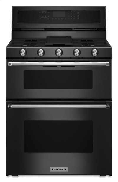 30-Inch 5 Burner Gas Double Oven Convection Range - Black Product Image