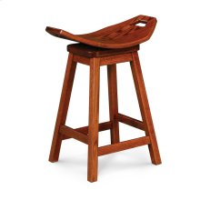 "Mission Saddle Swivel Barstool, Mission Saddle Swivel Barstool, 24""h"