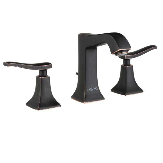 Rubbed Bronze Widespread Faucet 100 with Pop-Up Drain, 1.2 GPM