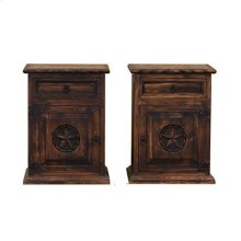 """Right : 22"""" x 16"""" x 30"""" Medio Country Bed Rope and Star Nightstands"""