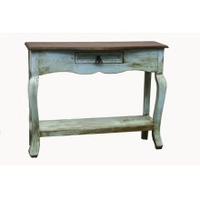 Turquoise/Walnut Ale Console