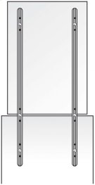 """Mirror Supports - 48"""" Product Image"""
