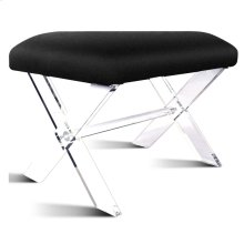 Harlow KD Faux Fur Stool Acrylic Base, Black
