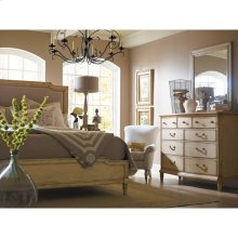 European Cottage-Upholstered Bed-Queen in Vintage White