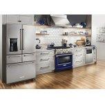 Kitchenaid 30'' 4-Burner Dual Fuel Freestanding Range, Commercial-Style - Cobalt Blue