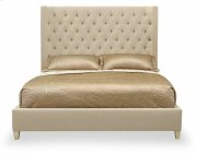 Queen-Sized Salon Upholstered Panel Bed in Salon Alabaster (341) Product Image