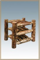 Glacier Country Log Countertop Wine Rack Product Image