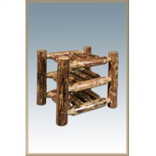 Glacier Country Log Countertop Wine Rack