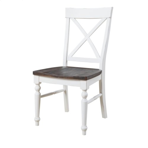 Emerald Home 9 Piece Mountain Retreat Antique White and Dark Mocha Dining Table and 8 Dining Chairs D601-10-09-9pcset1-k