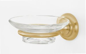 Charlie's Collection Soap Holder A6730 - Satin Brass Product Image