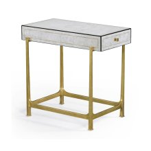 églomisé & Gilded Iron Box Top Side Table
