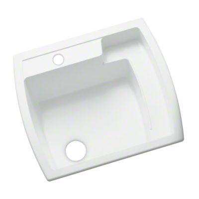 """Latitude® Utility Sink, 25"""" x 22"""" x 12"""" - White"""
