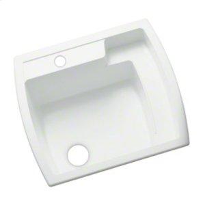 """Latitude® Utility Sink, 25"""" x 22"""" x 12"""" - White Product Image"""