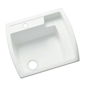 "Latitude® Utility Sink, 25"" x 22"" x 12"" - White Product Image"