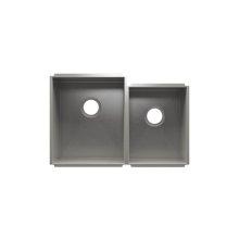 """UrbanEdge® 003652 - undermount stainless steel Kitchen sink , 15"""" × 18"""" × 10""""  12"""" × 16"""" × 8"""""""