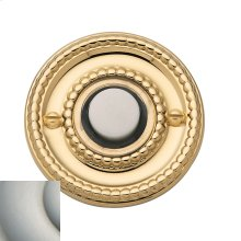 Satin Nickel with Lifetime Finish Beaded Bell Button
