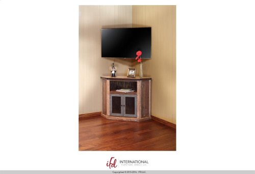 2 Door Corner TV-Stand - Multicolor finish